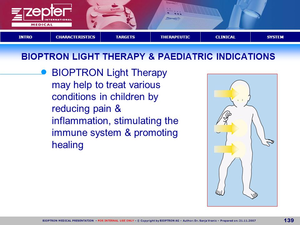 BIOPTRON LIGHT THERAPY & PAEDIATRIC INDICATIONS