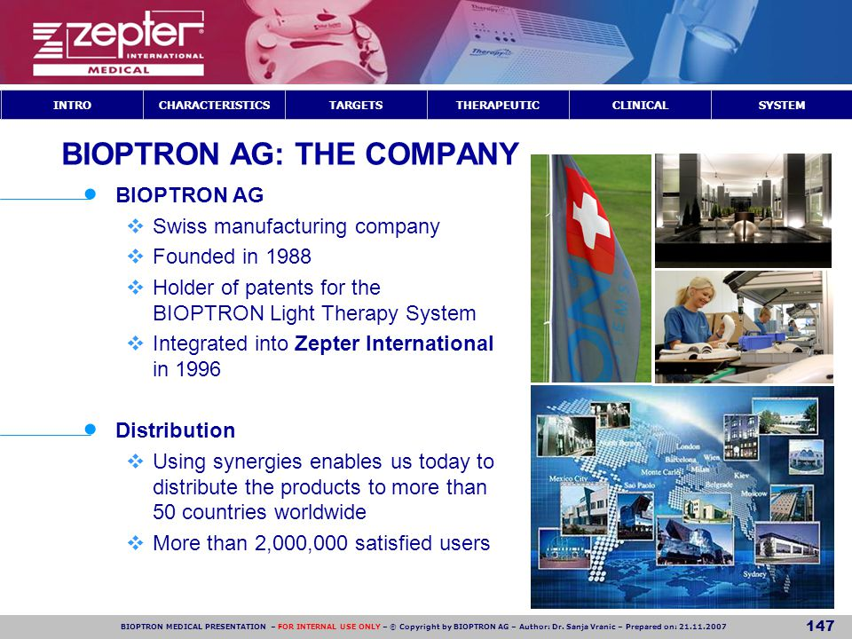 BIOPTRON AG: THE COMPANY