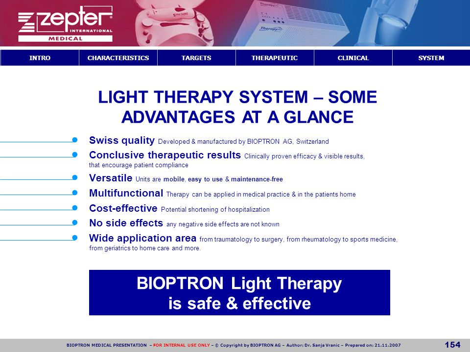 LIGHT THERAPY SYSTEM – SOME ADVANTAGES AT A GLANCE