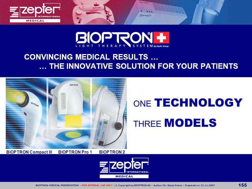 © Copyright by BIOPTRON AG - FOR INTERNAL USE ONLY!