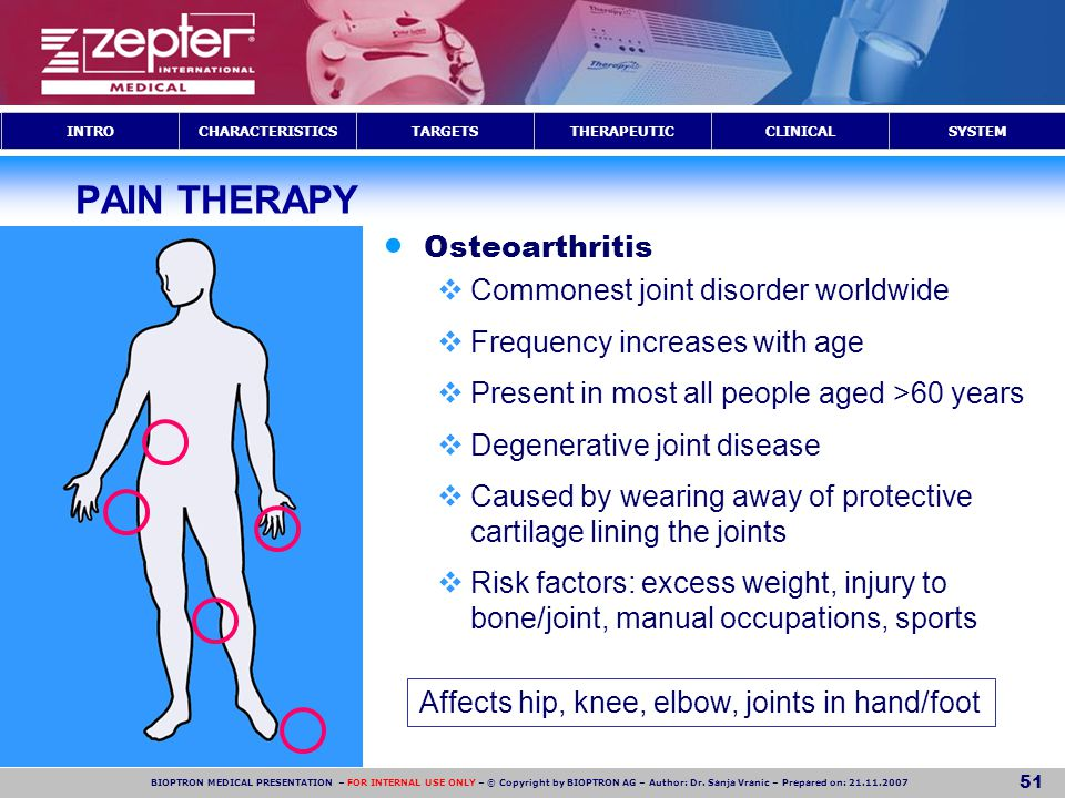 PAIN THERAPY Osteoarthritis Commonest joint disorder worldwide