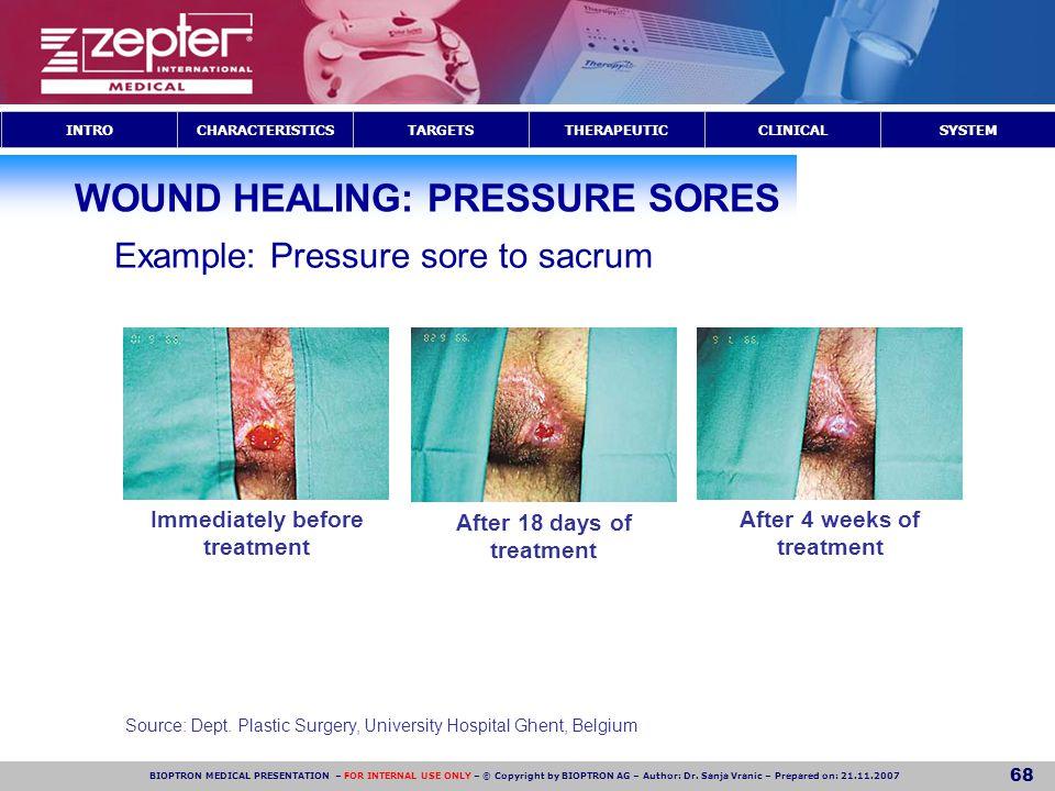 WOUND HEALING: PRESSURE SORES