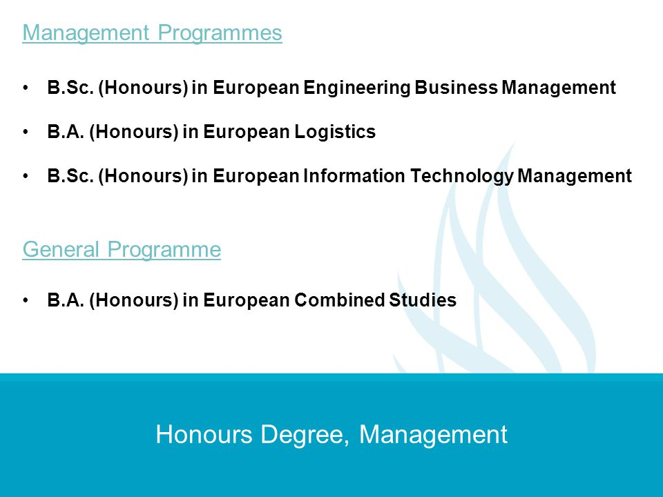 Honours Degree, Management