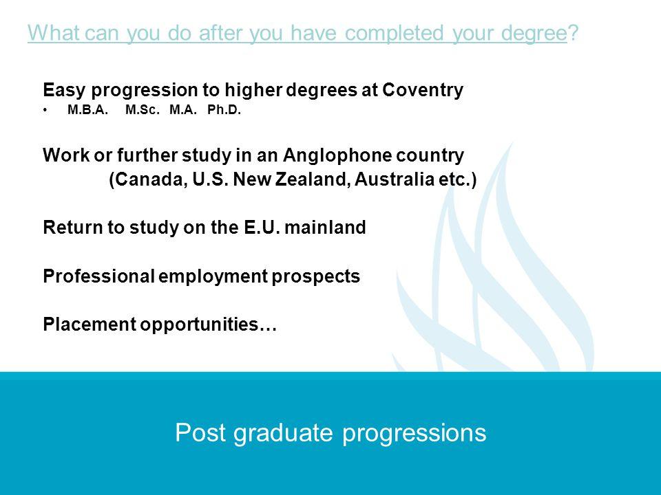 Post graduate progressions