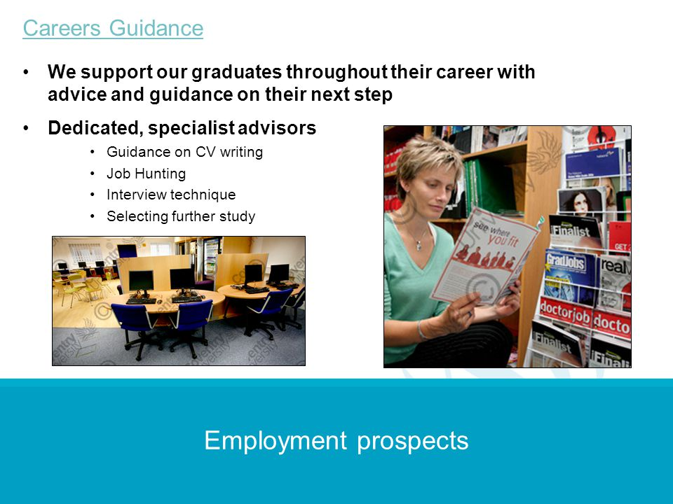 Employment prospects Careers Guidance