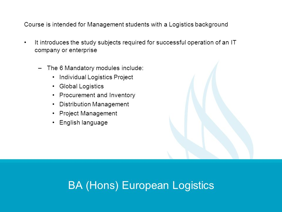 BA (Hons) European Logistics