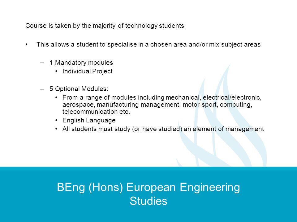 BEng (Hons) European Engineering Studies