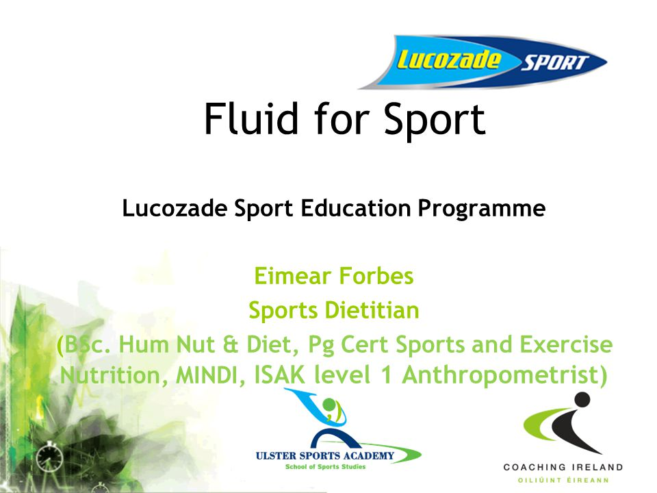Lucozade Sport Education Programme