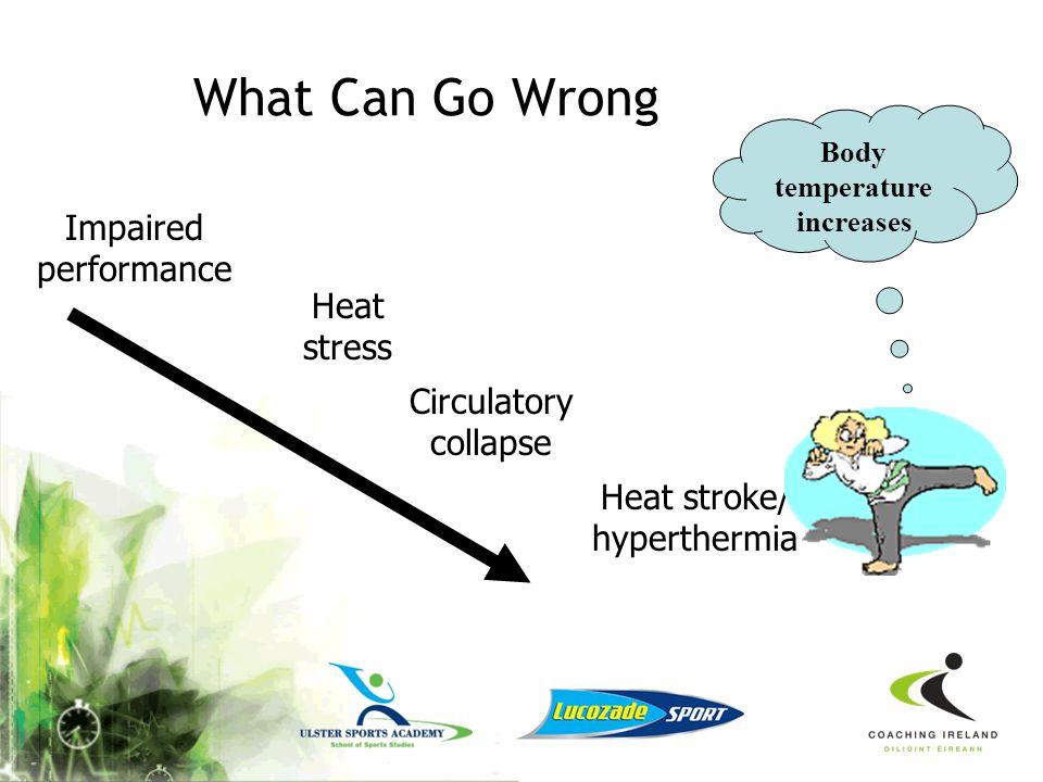 Body temperature increases