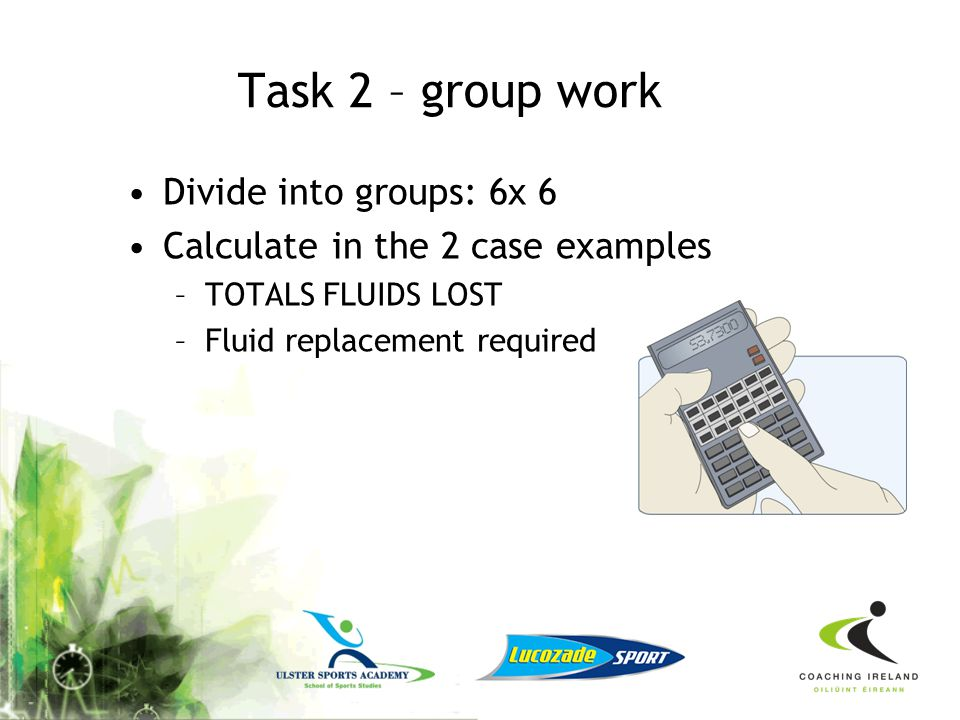 Task 2 – group work Divide into groups: 6x 6