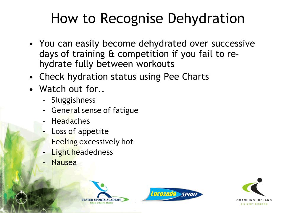 How to Recognise Dehydration