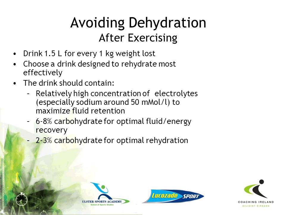 Avoiding Dehydration After Exercising