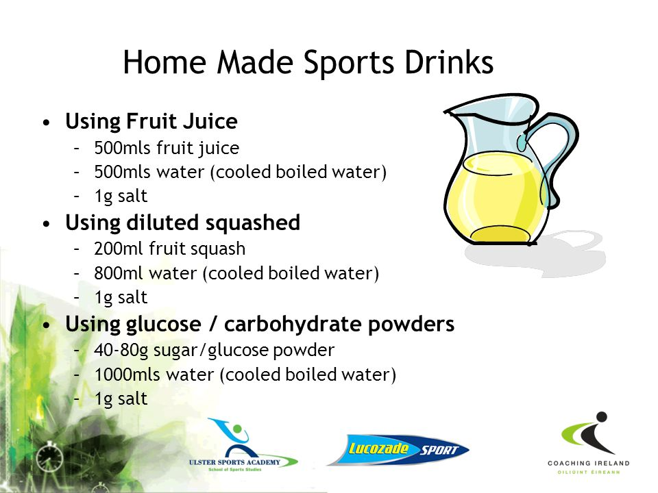 Home Made Sports Drinks