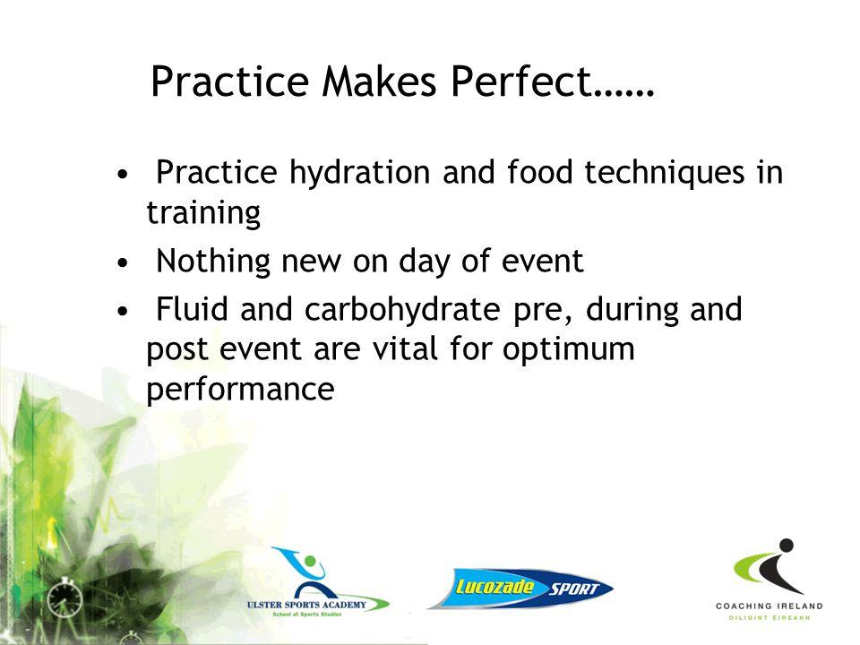 Practice Makes Perfect……
