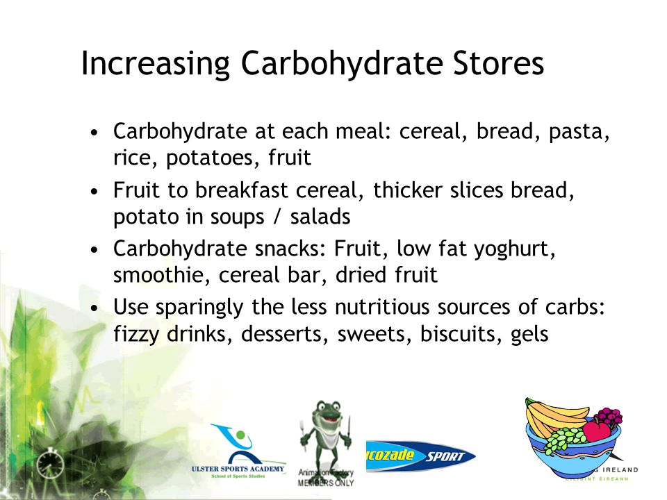 Increasing Carbohydrate Stores