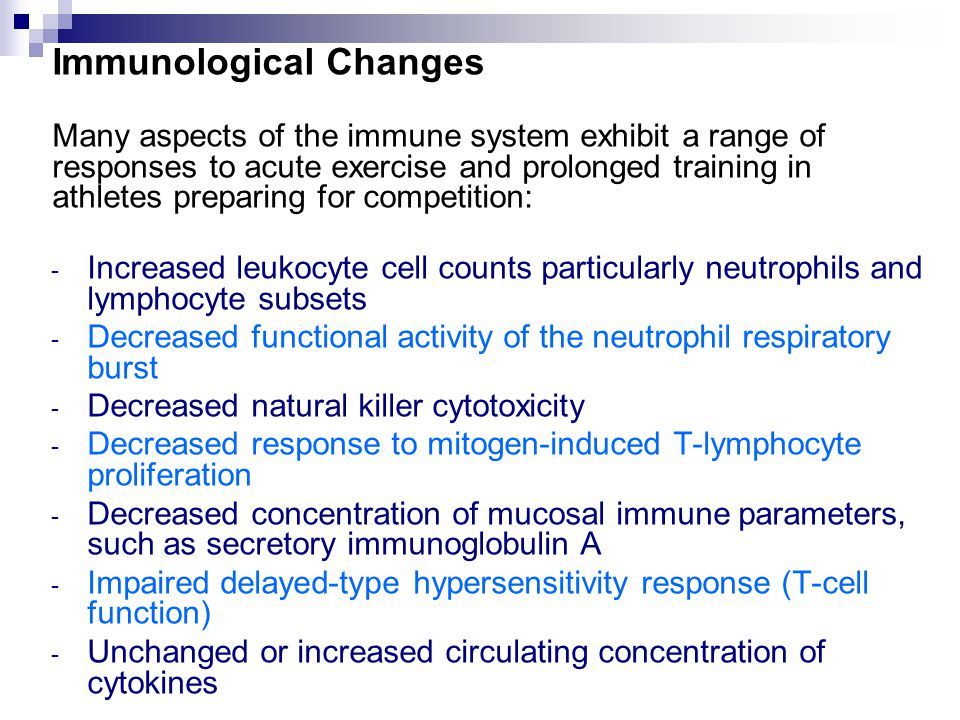 Immunological Changes