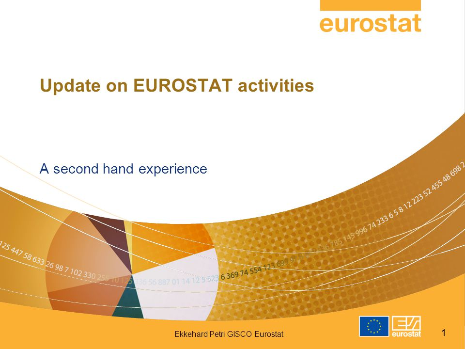 Update on EUROSTAT activities