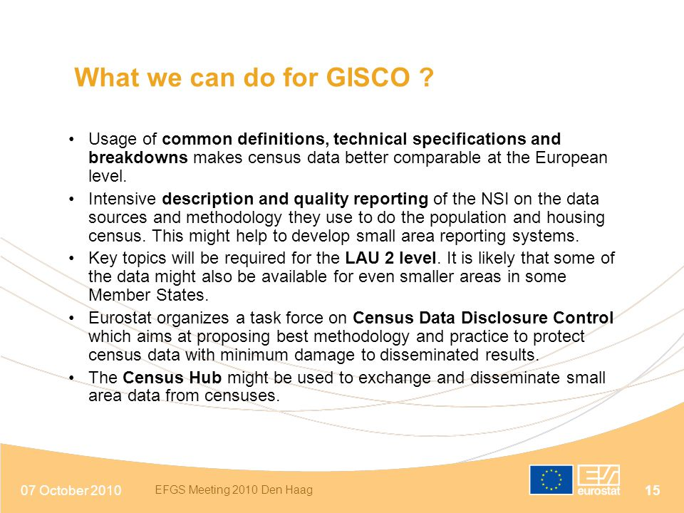 What we can do for GISCO