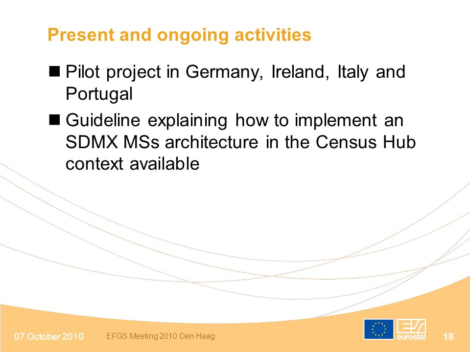 Present and ongoing activities