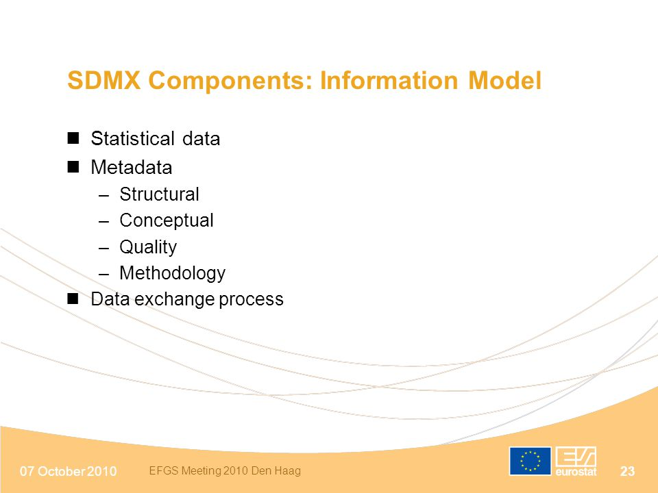 SDMX Components: Information Model