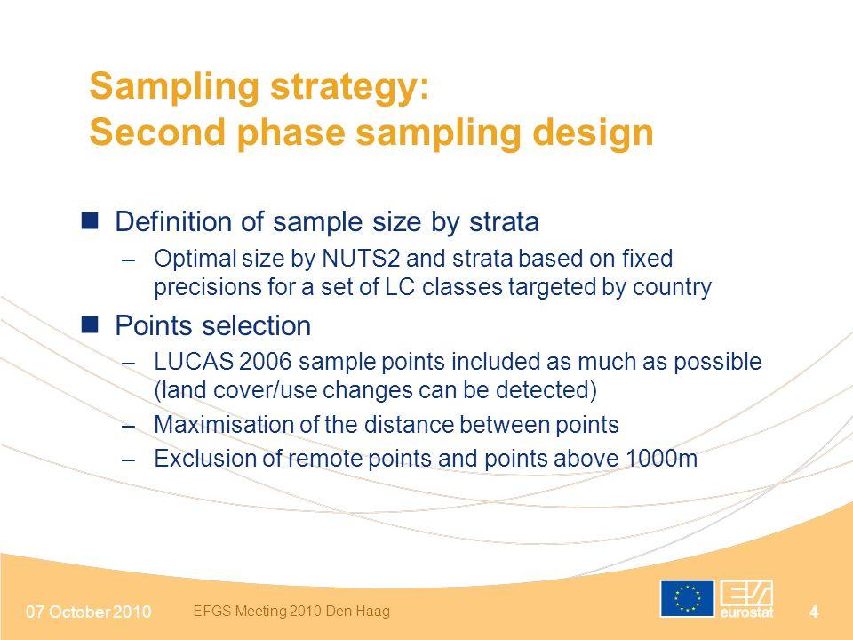Second phase sampling design