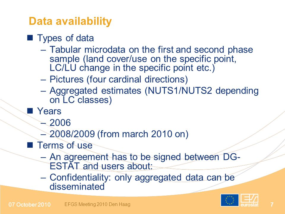 Data availability Types of data