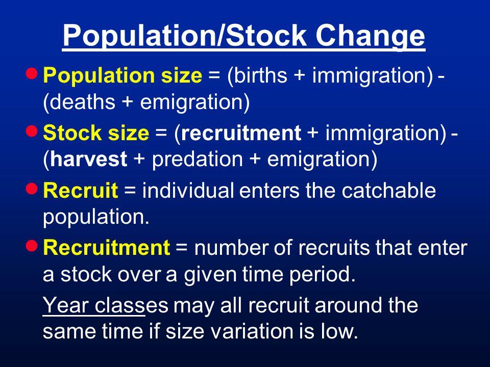 Population/Stock Change