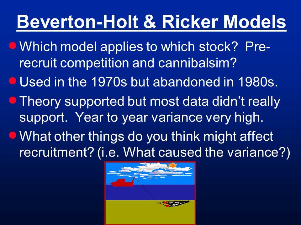 Beverton-Holt & Ricker Models