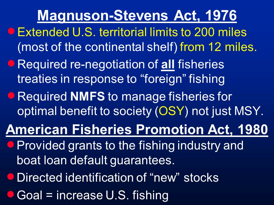 American Fisheries Promotion Act, 1980
