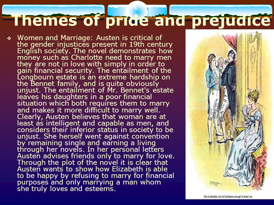 Themes of pride and prejudice