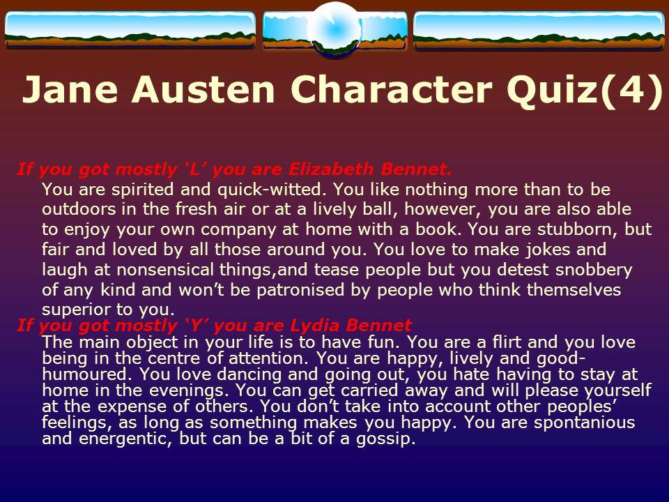 Jane Austen Character Quiz(4)