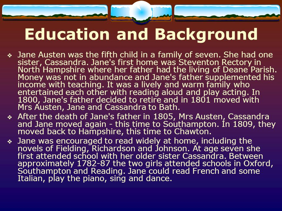 Education and Background