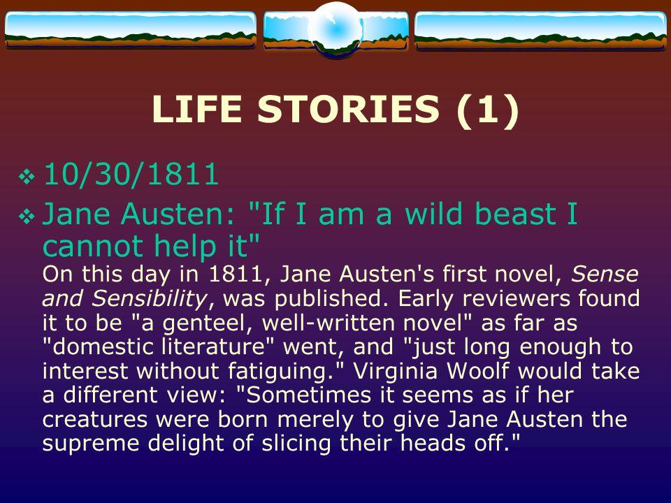 LIFE STORIES (1) 10/30/1811.