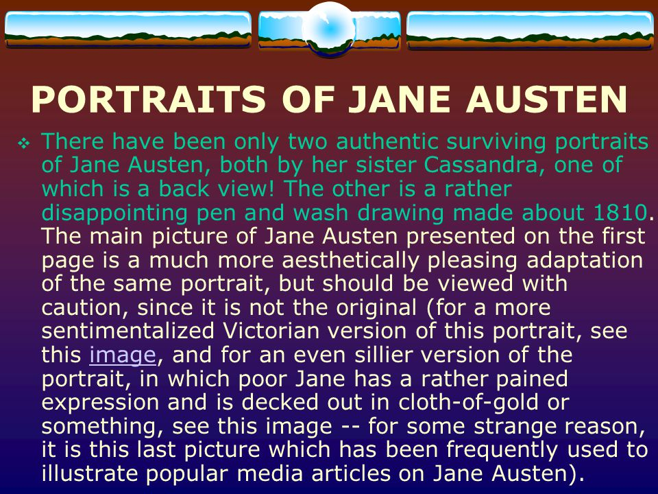 PORTRAITS OF JANE AUSTEN