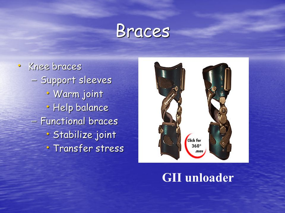 Braces GII unloader Knee braces Support sleeves Warm joint