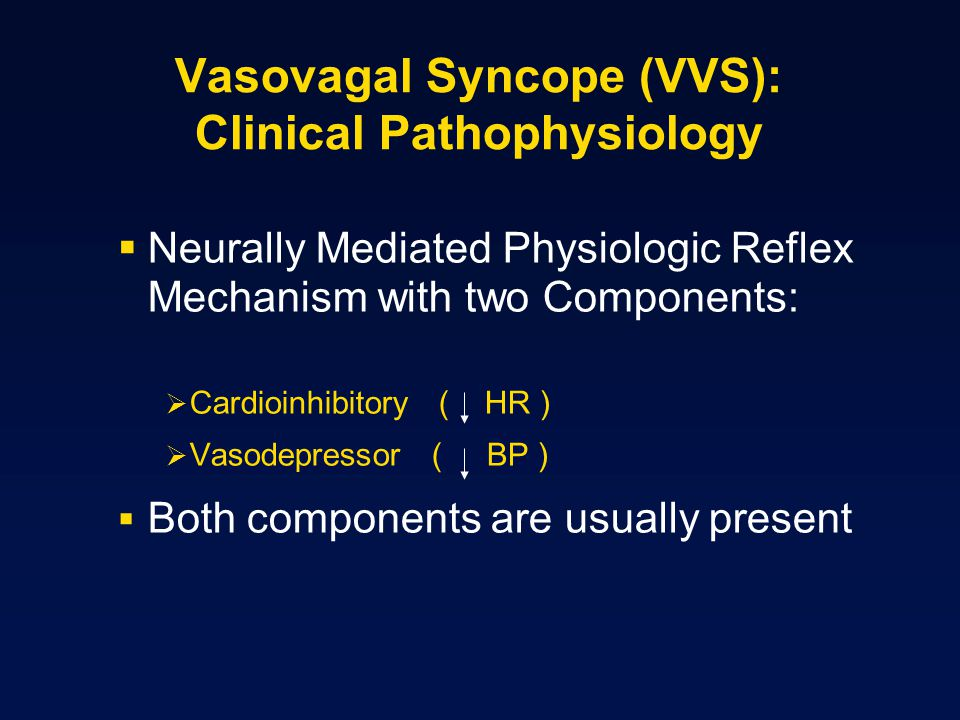 Vasovagal Syncope (VVS): Clinical Pathophysiology