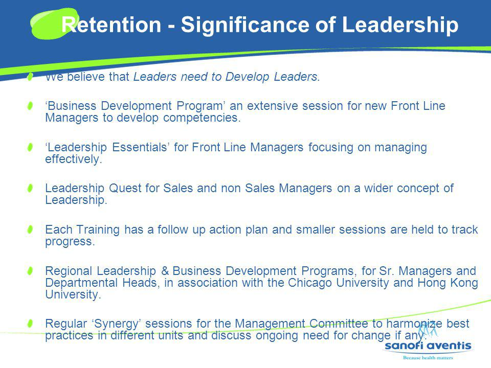 Retention - Significance of Leadership