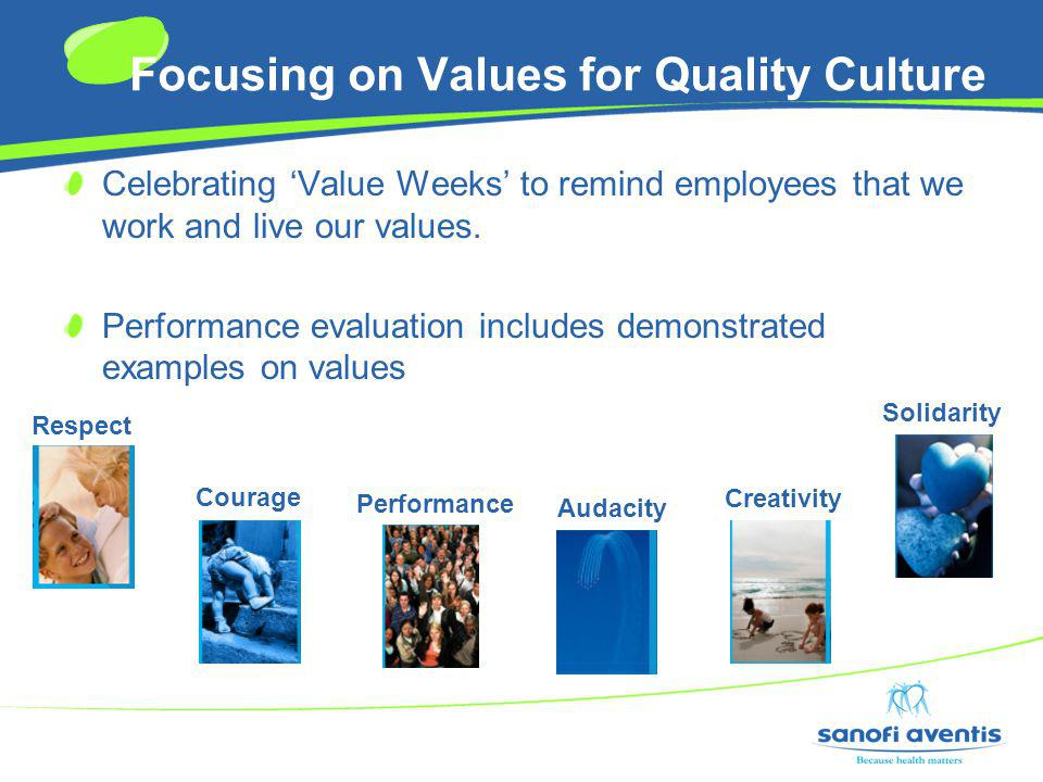 Focusing on Values for Quality Culture