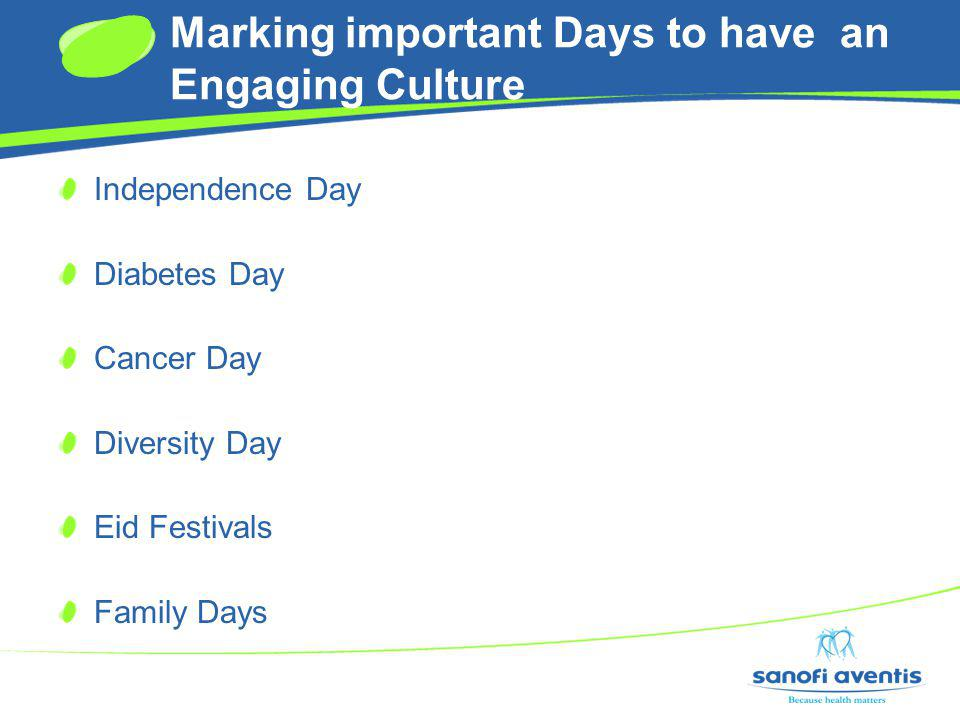 Marking important Days to have an Engaging Culture