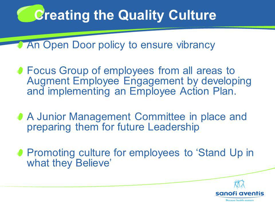 Creating the Quality Culture