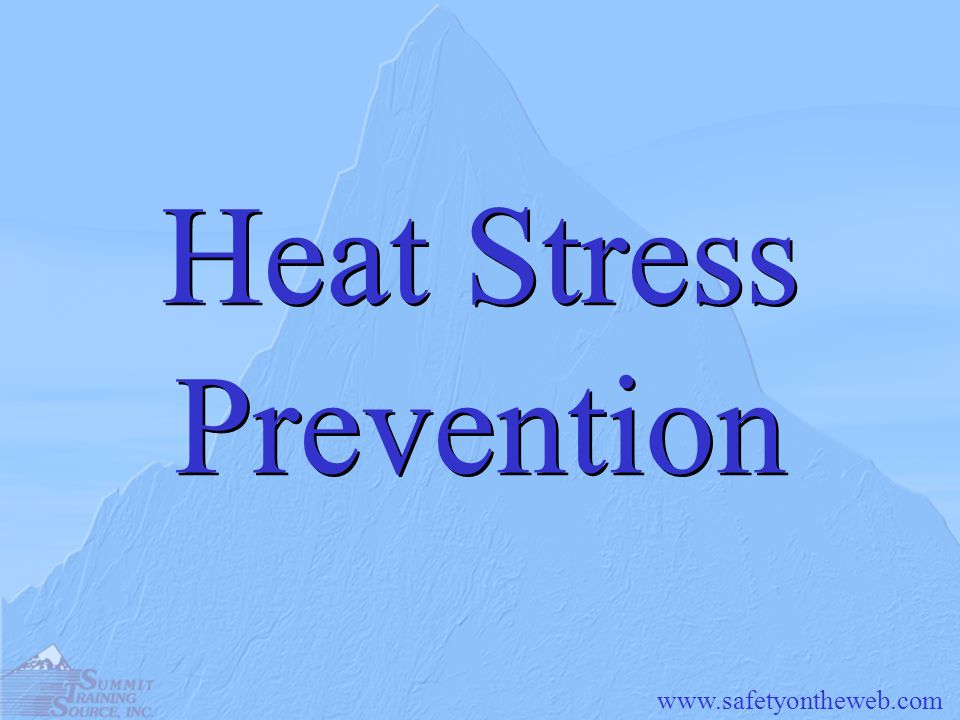 Heat Stress Prevention