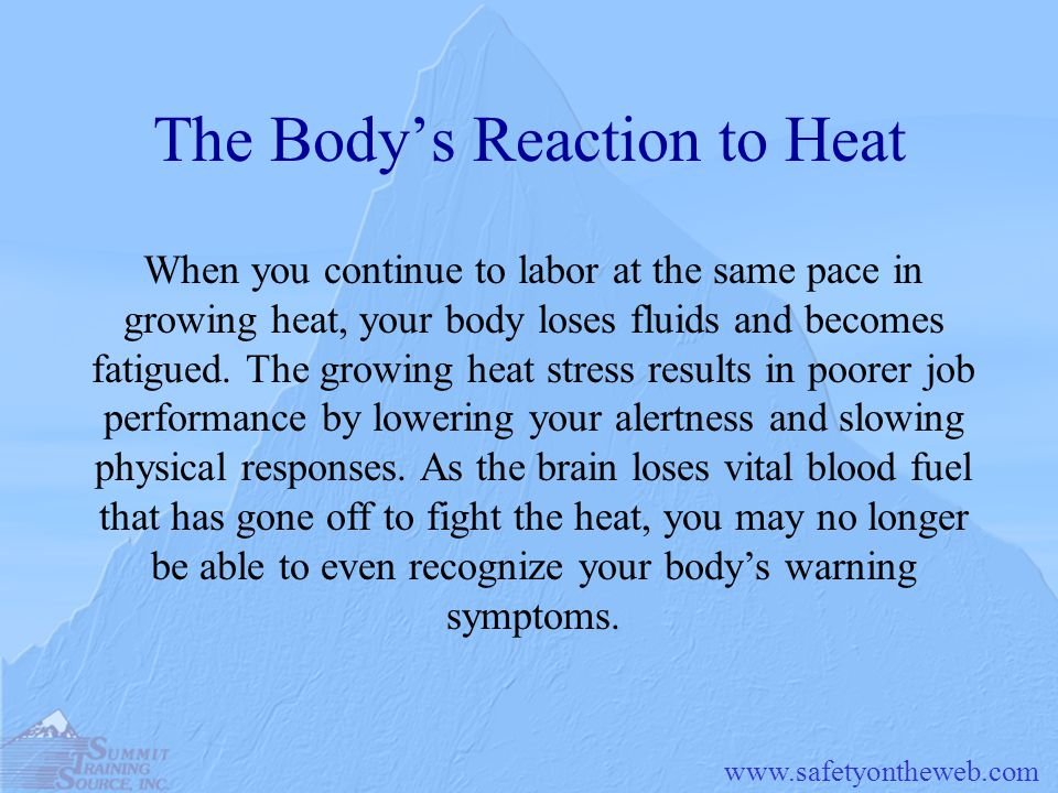 The Body's Reaction to Heat