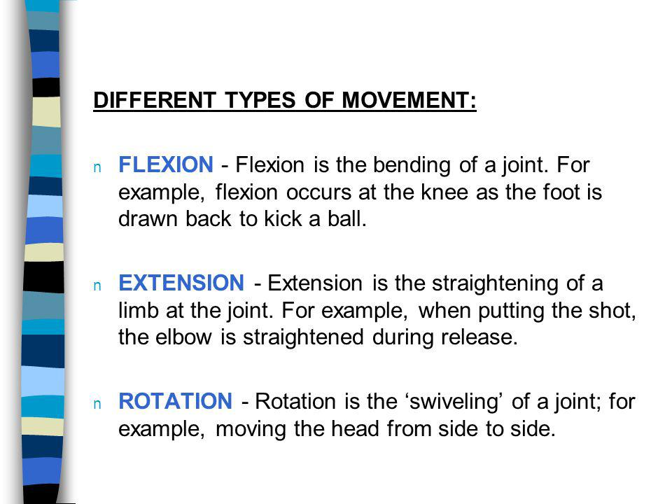 DIFFERENT TYPES OF MOVEMENT:
