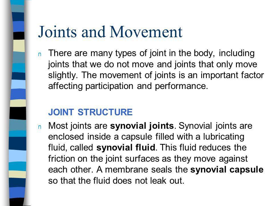 Joints and Movement