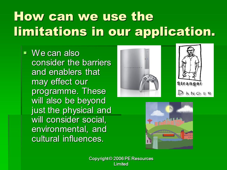 How can we use the limitations in our application.