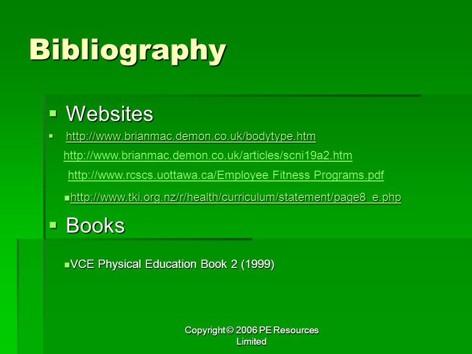 Copyright © 2006 PE Resources Limited