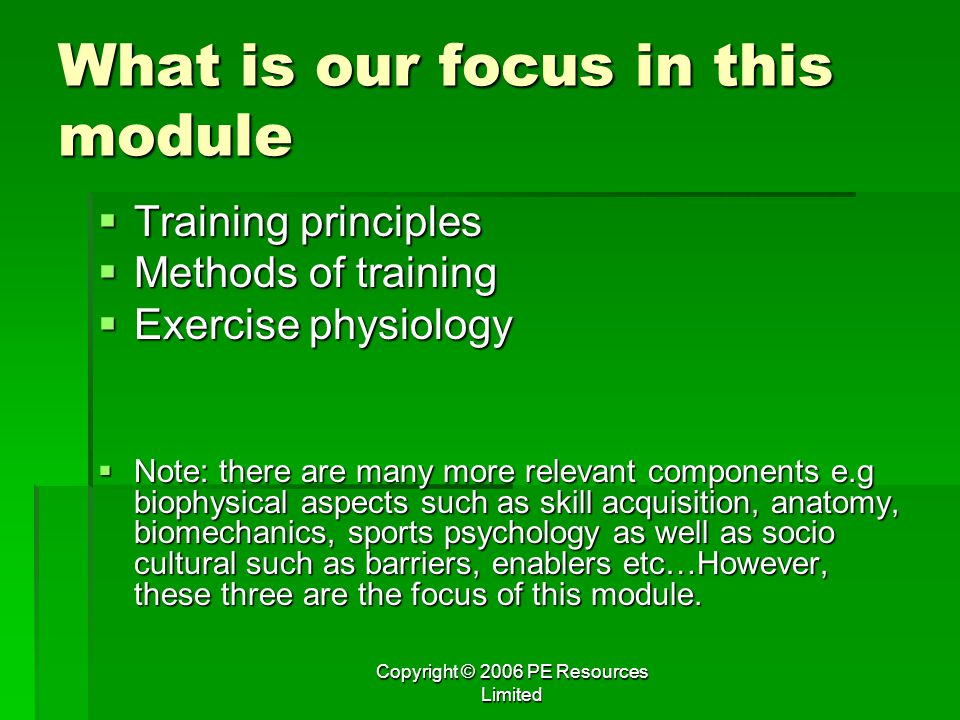 What is our focus in this module