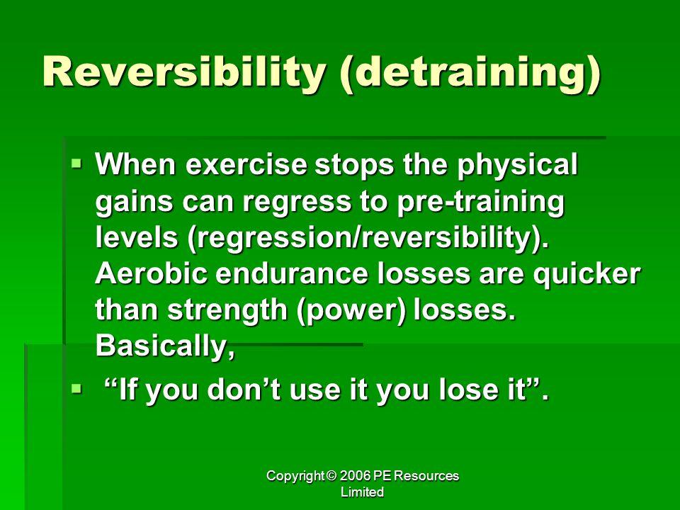Reversibility (detraining)
