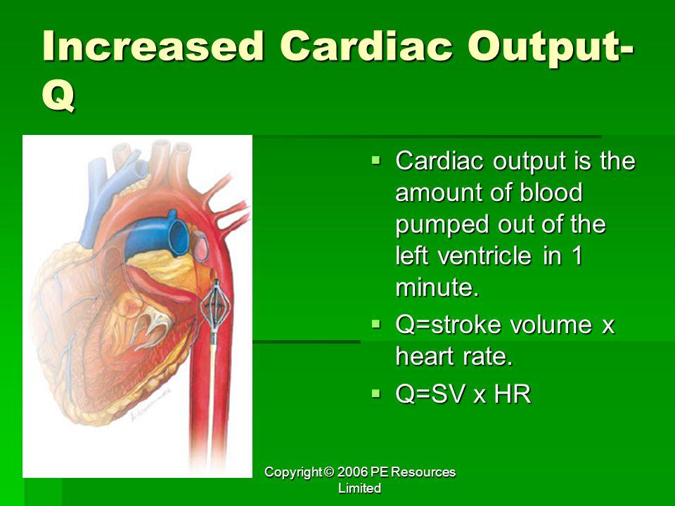 Increased Cardiac Output-Q