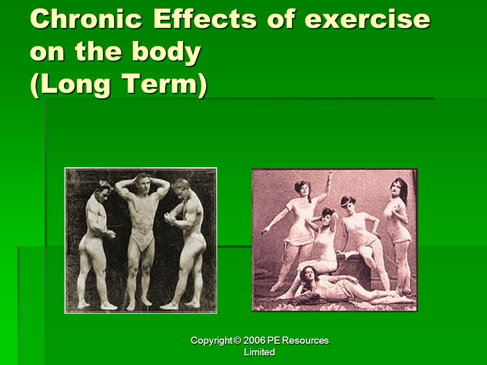 Chronic Effects of exercise on the body (Long Term)